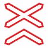 Знак многопутная железная дорога 1.3.2