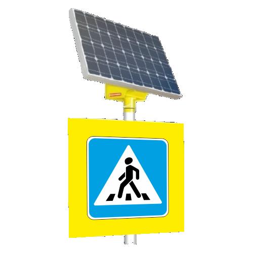 Автономный светодиодный знак 5.19.1 Пешеходный переход (с внутр. подсветкой)