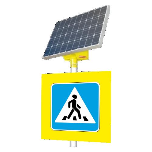 Автономный светодиодный знак 5.19.2 Пешеходный переход (с внутр. подсветкой)