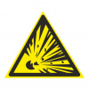 Взрывоопасно. знаки безопасности