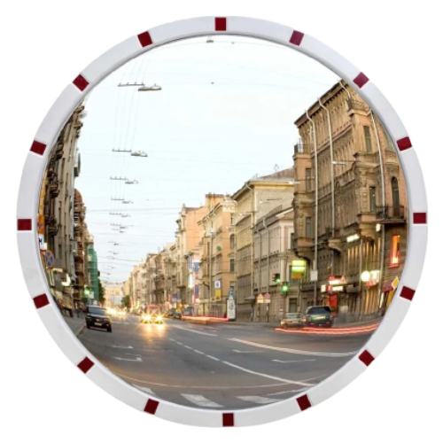Обзорное универсальное сферическое зеркало с отражателями Ø-500