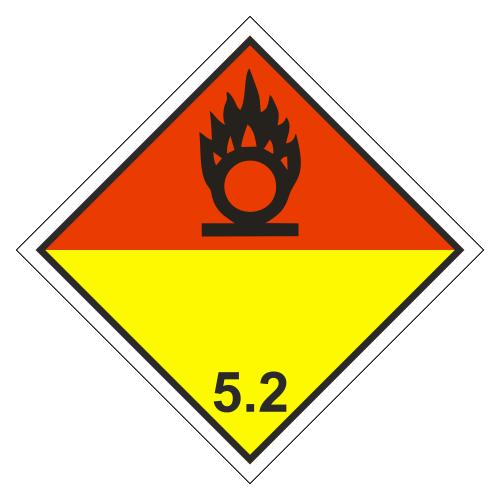 Знак опасности. Класс 5.1. Органические пероксиды