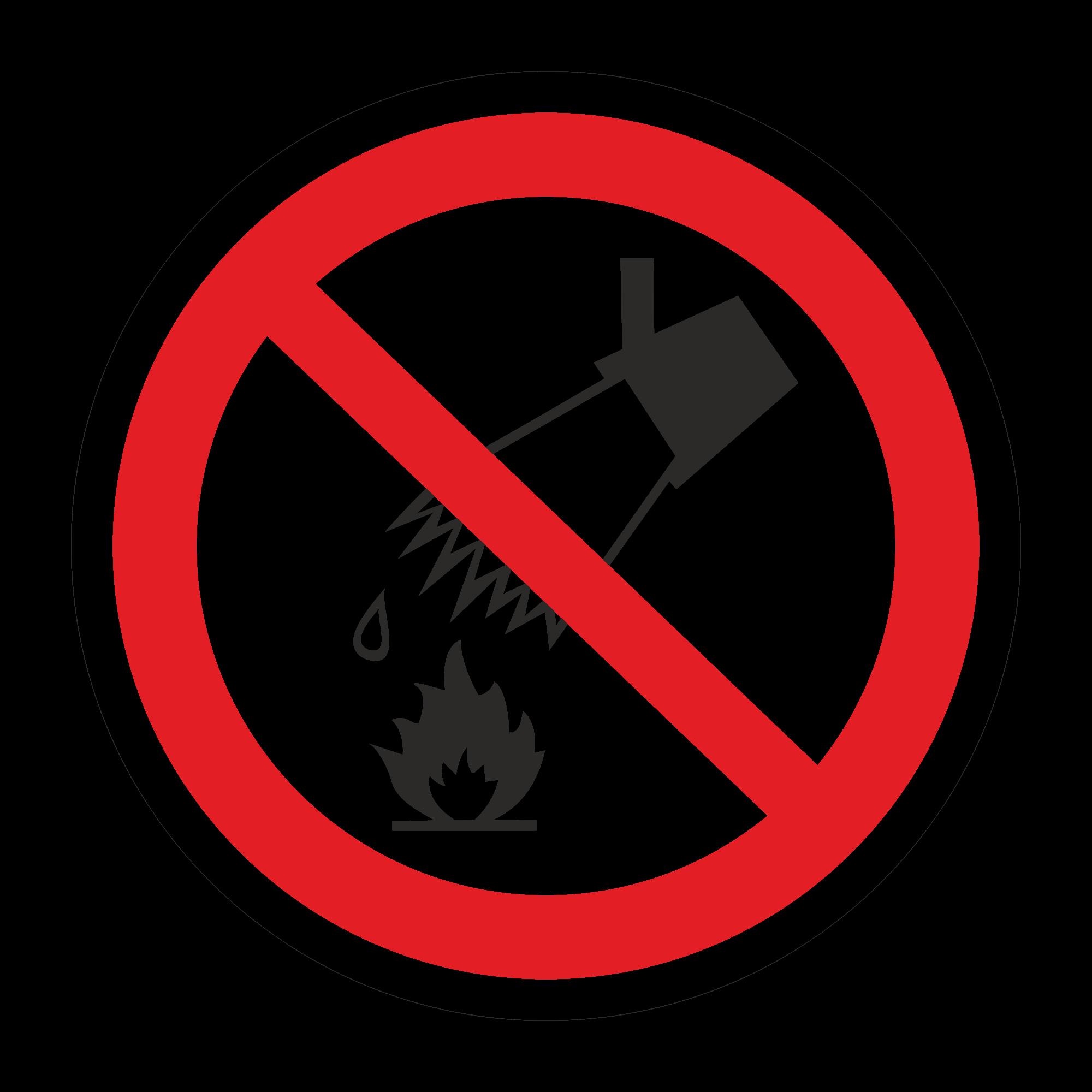 Р04 Запрещается тушить водой