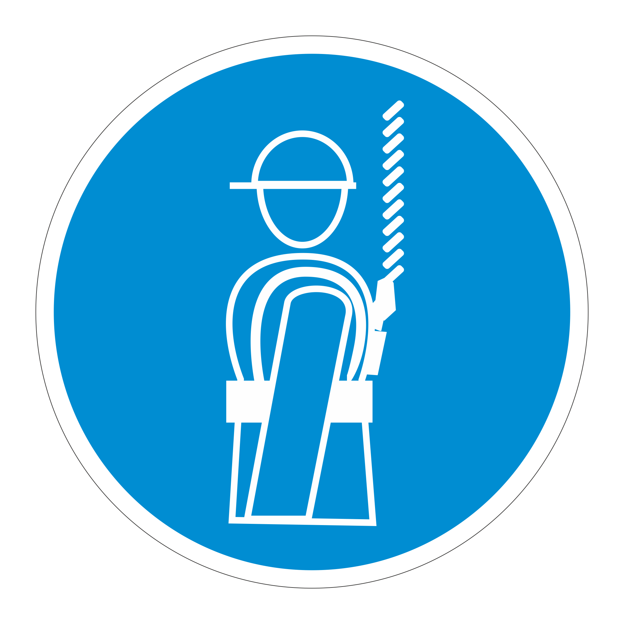 М09 Работать в предохранительном (страховочном) поясе