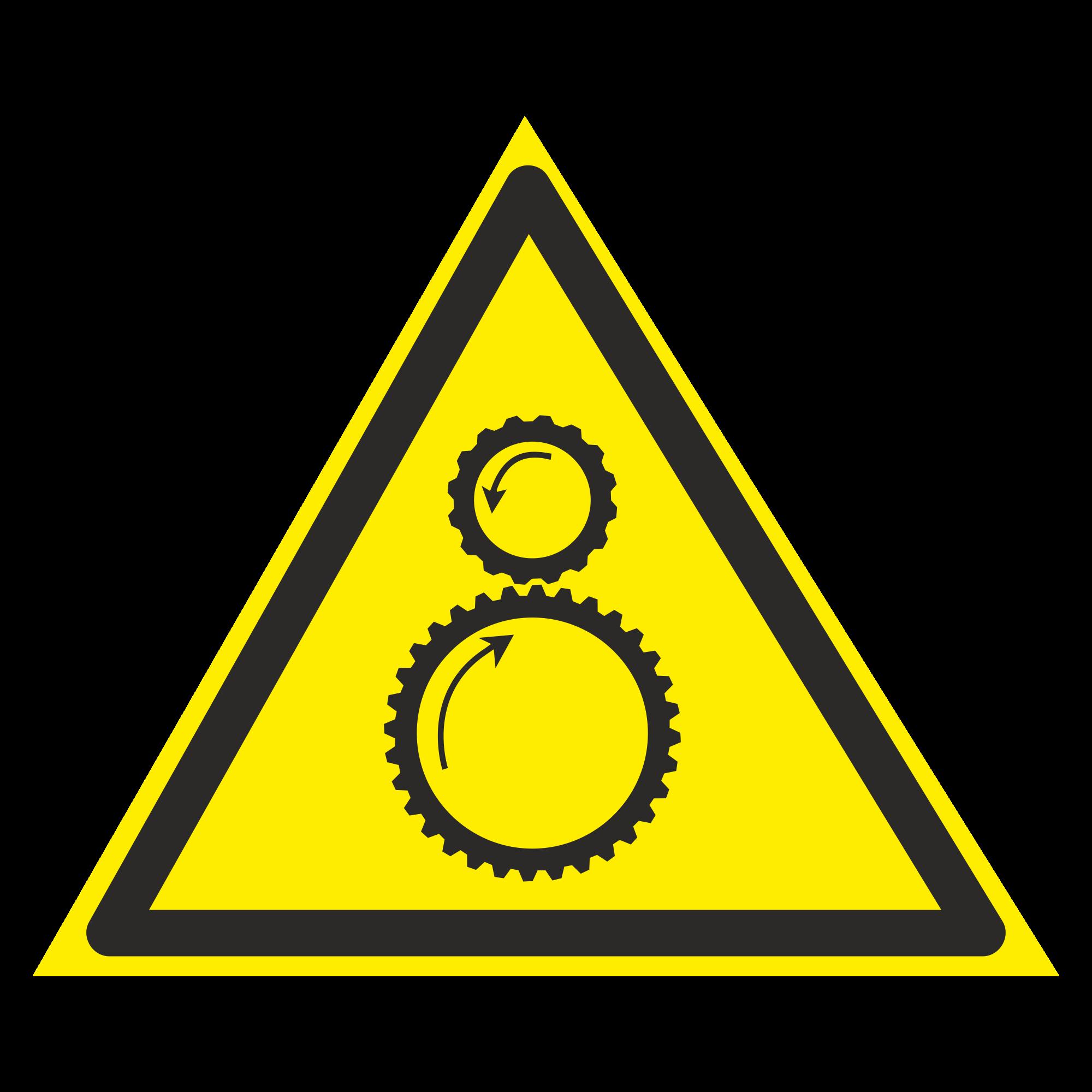 W29 Осторожно. Возможно затягивание между вращающимися элементами