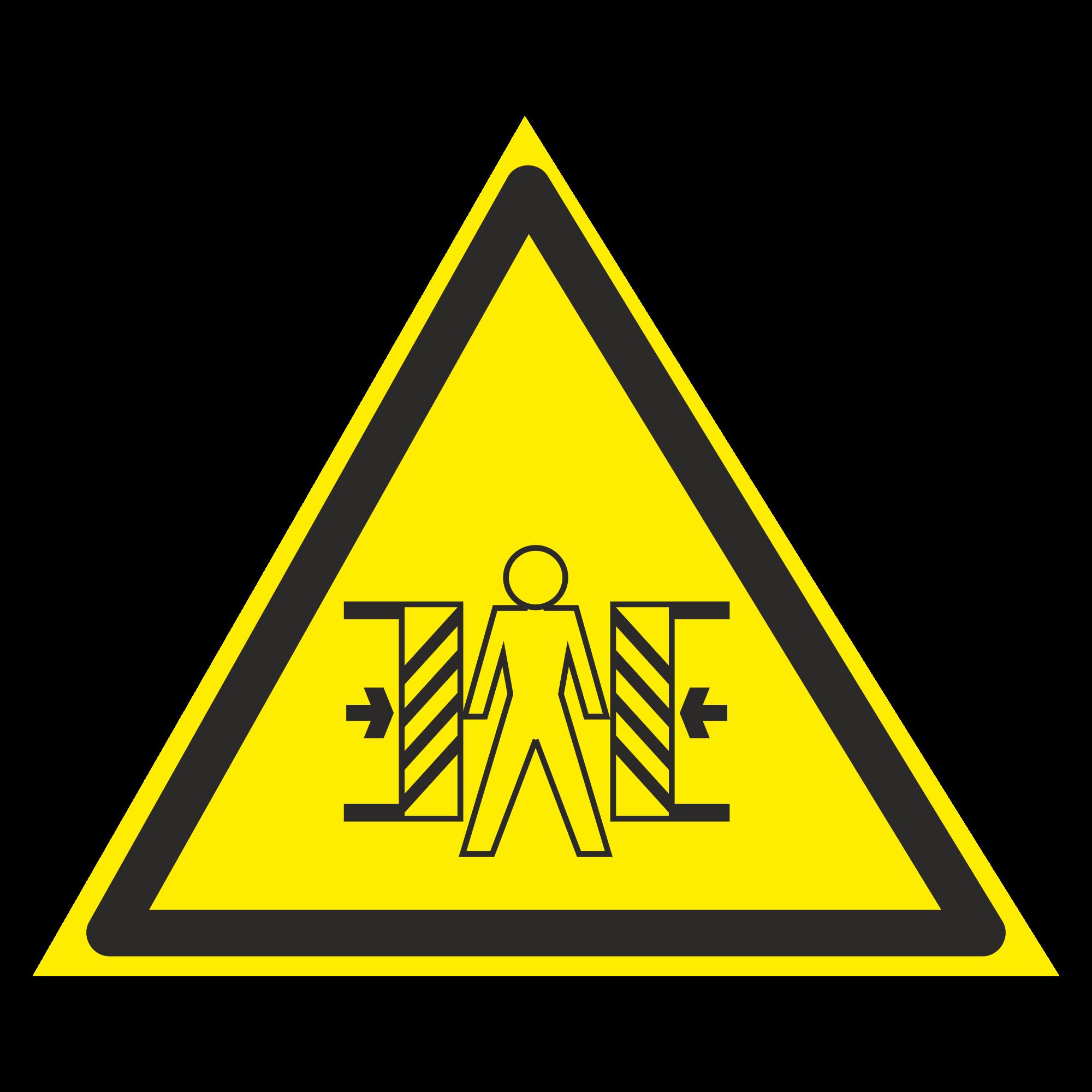 W23 Внимание. Опасность зажима