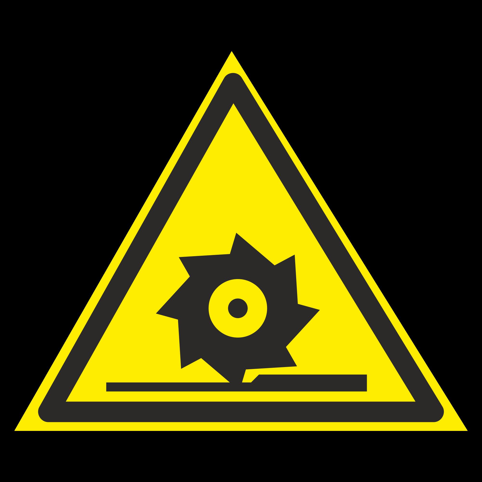 W22 Осторожно. Режущие валы