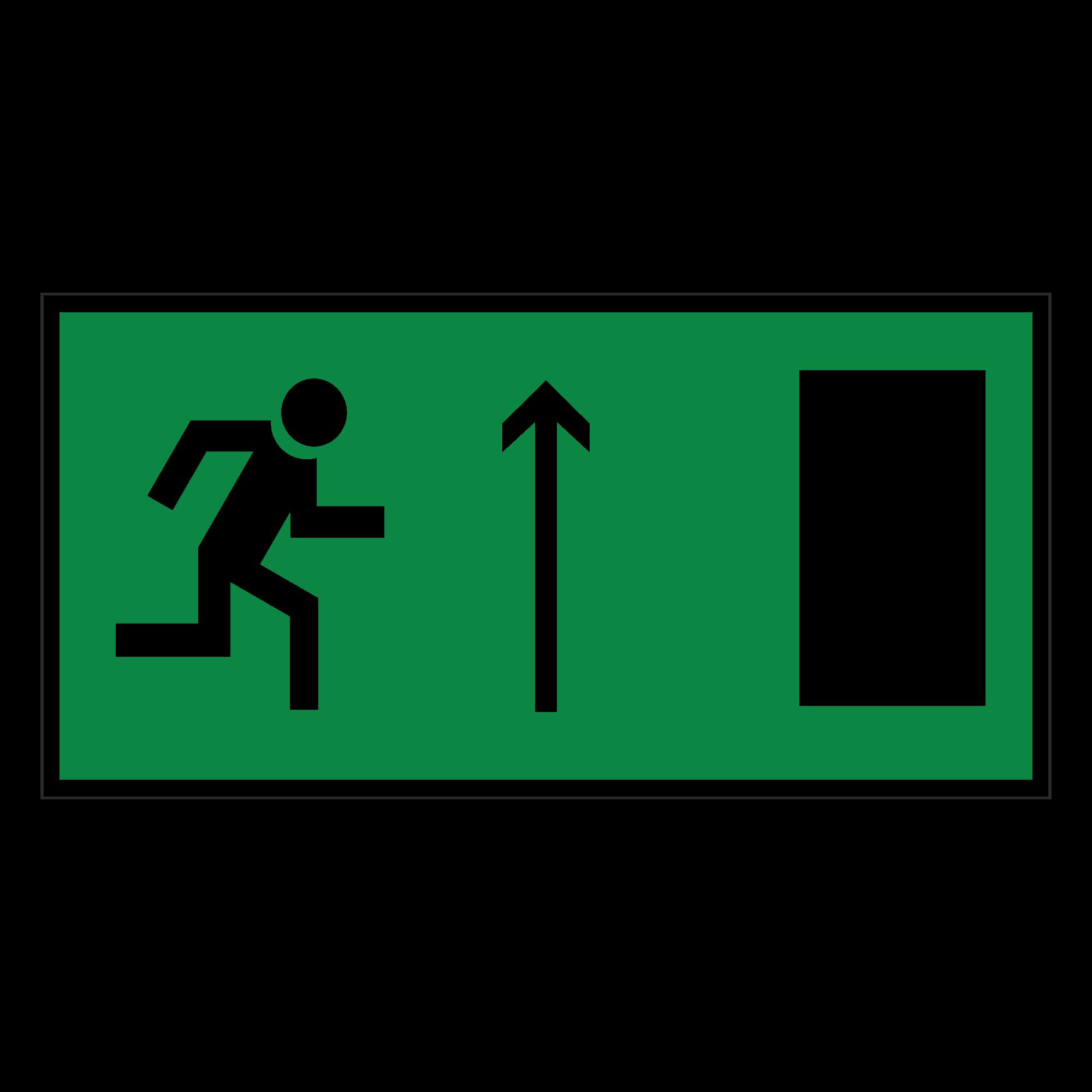 Е11 Направление к эвакуационному выходу прямо