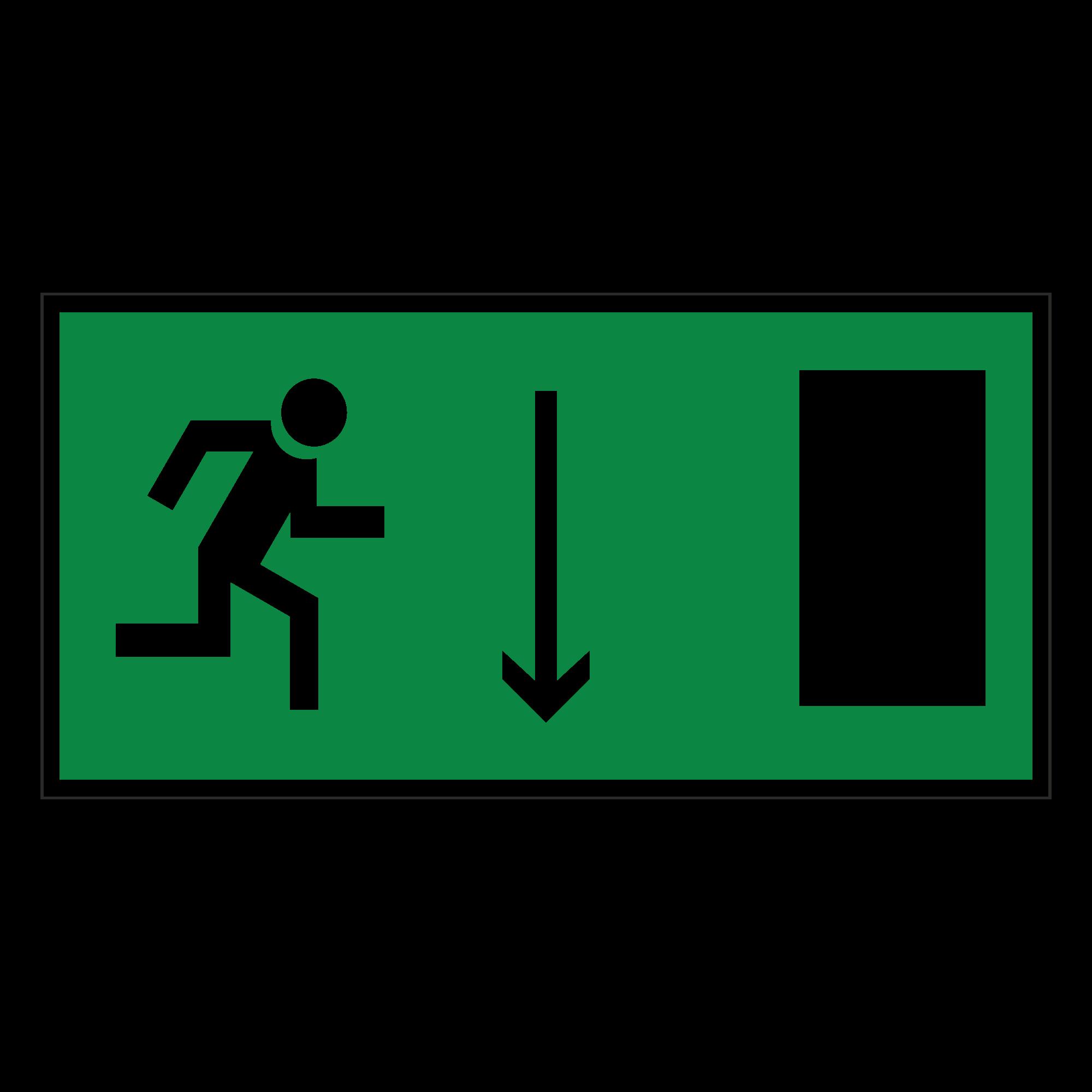 Е09 Указатель двери эвакуационного выхода (правосторонний)