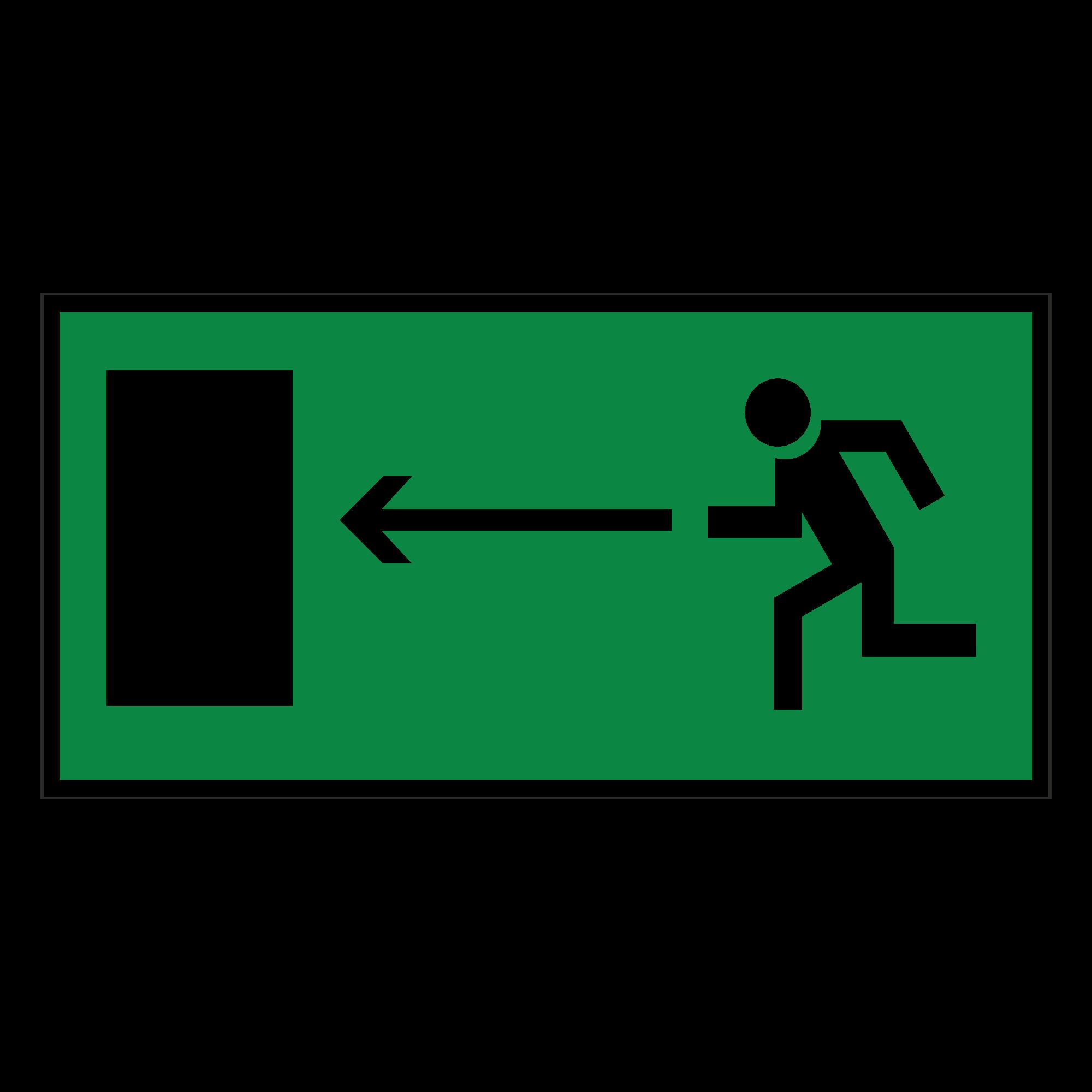 Е04 Направление к эвакуационному выходу налево