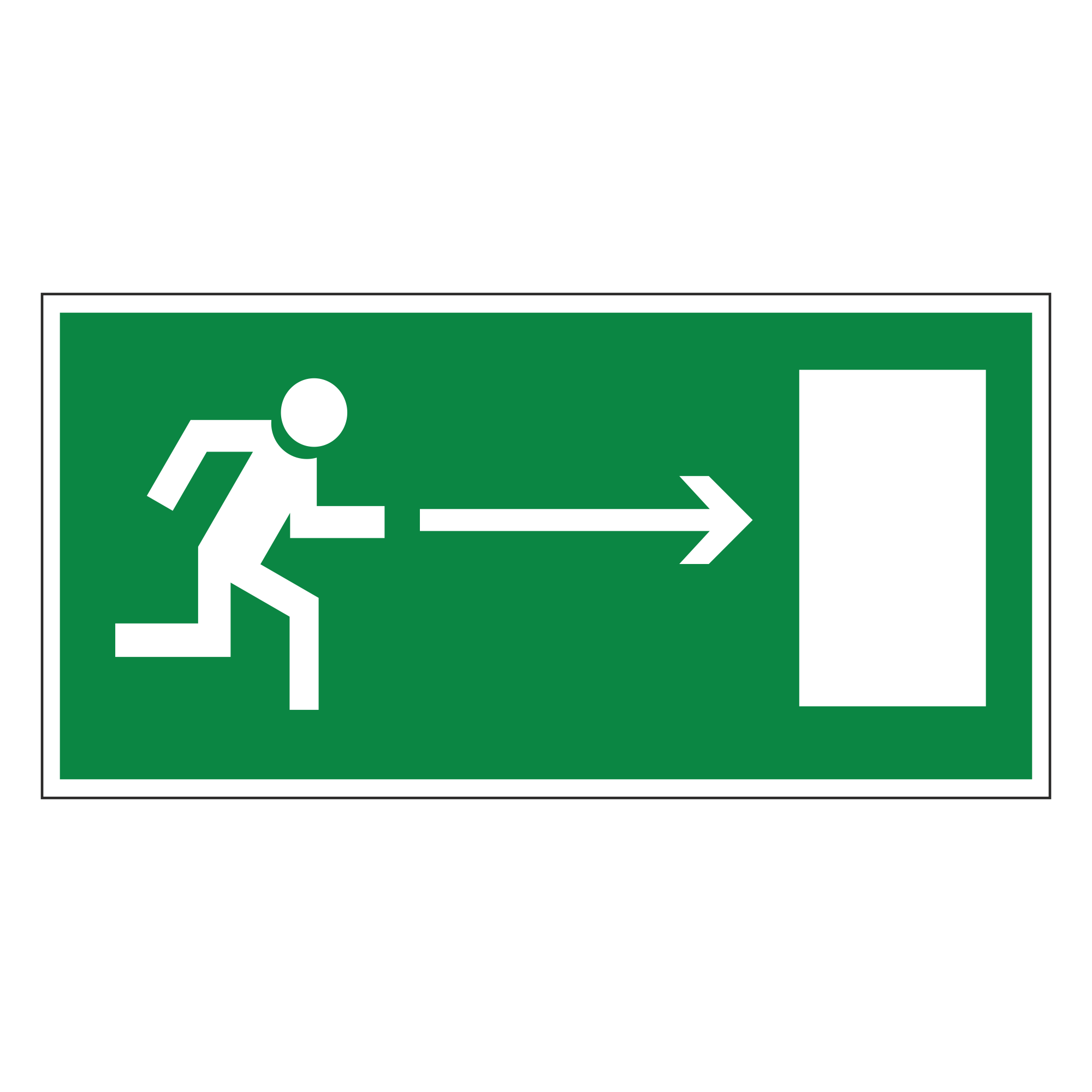 Е03 Направление к эвакуационному выходу направо
