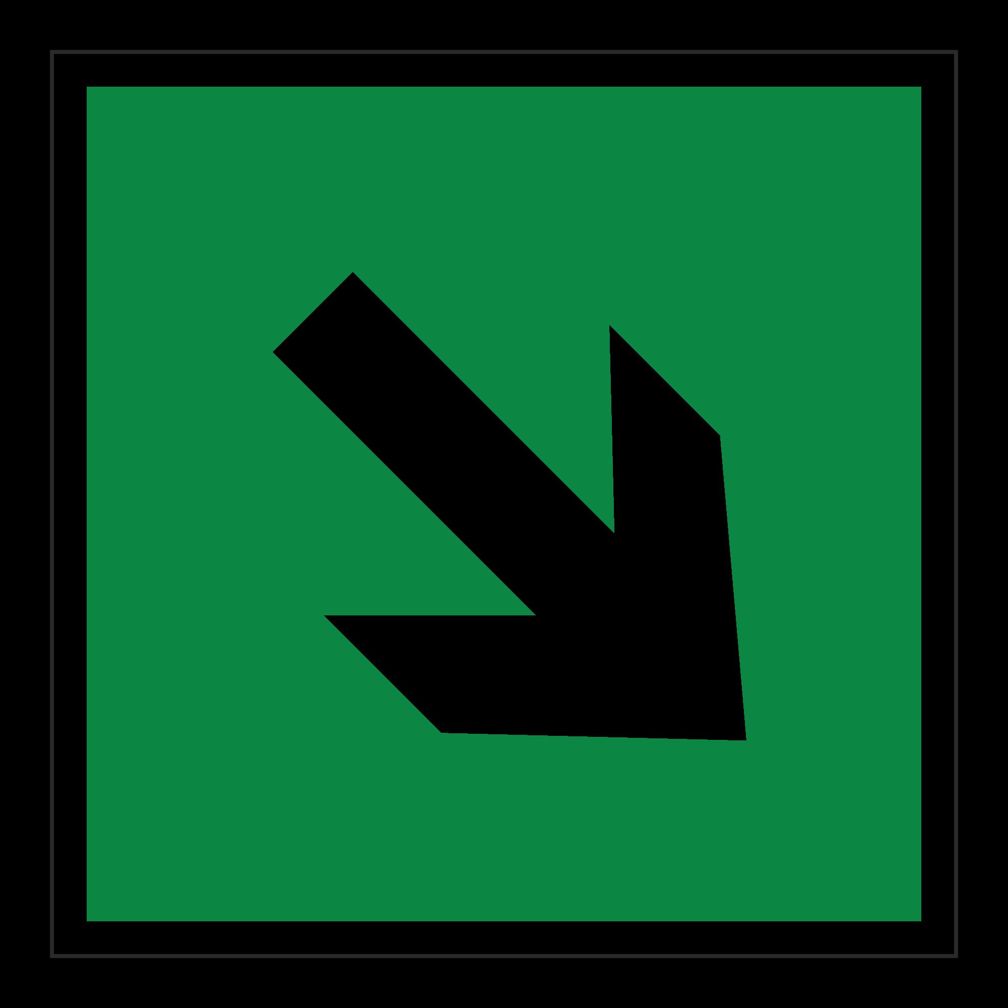 Е02-02 Направляющая стрелка под углом 45°