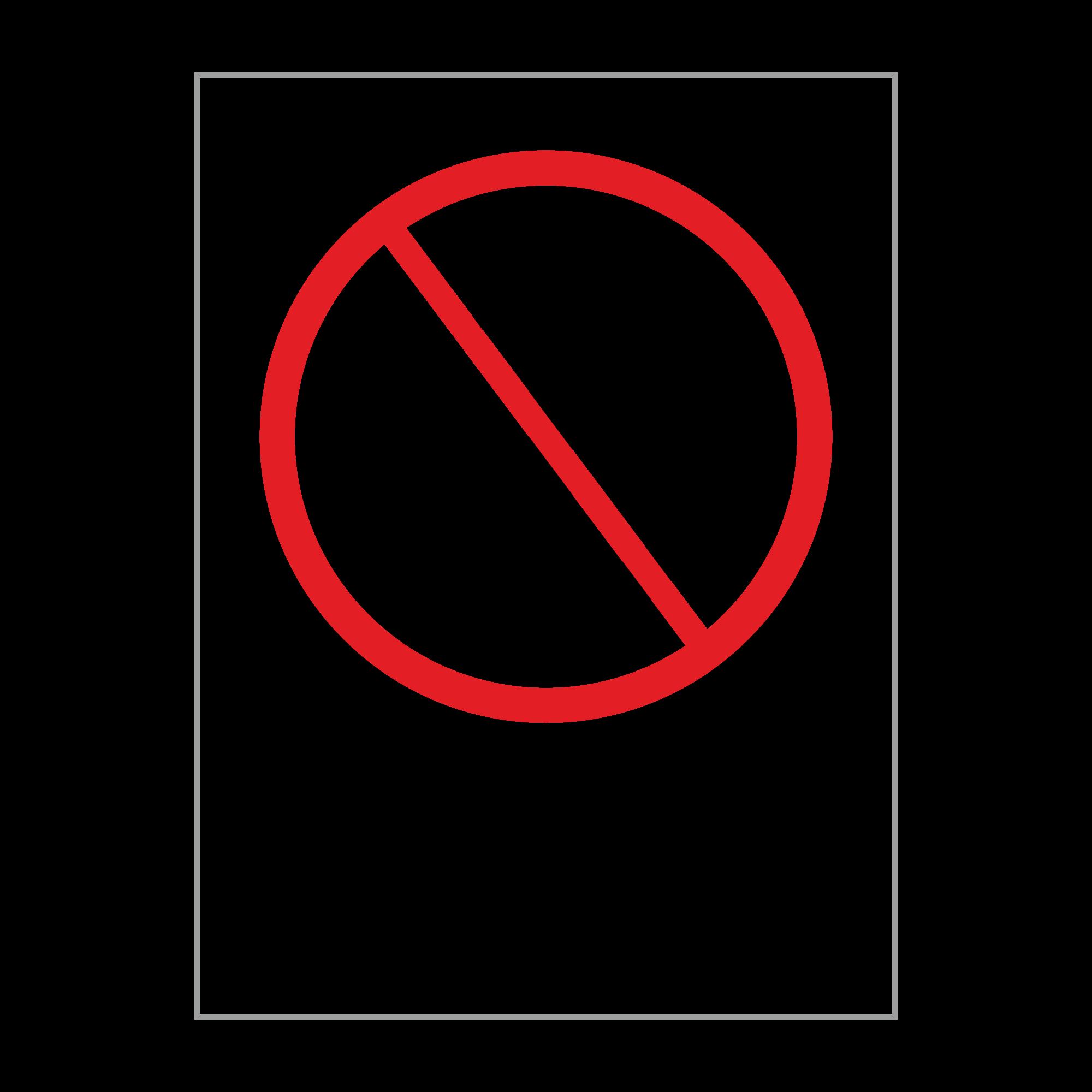 """ЗБВ-05 Знак """"Причаливать запрещено"""""""