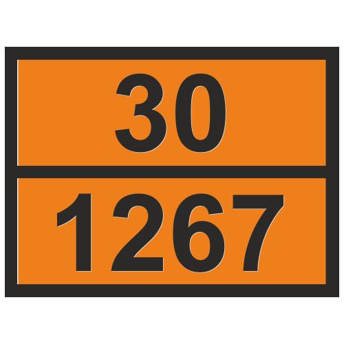 Табличка опасный груз 30-1267 Нефть сырая