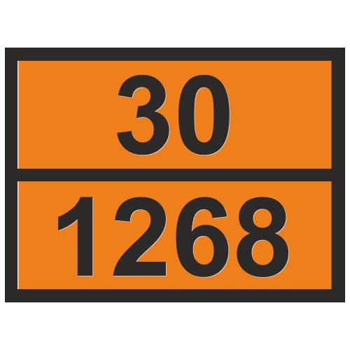 Табличка опасный груз 30-1268 Нефтепродукты