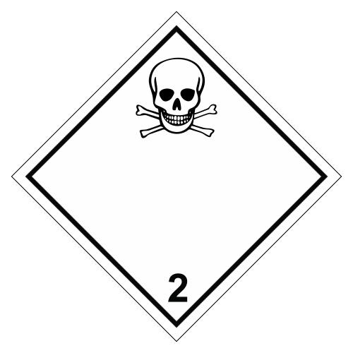 Знак опасности. Класс 2.2. Токсичные газы