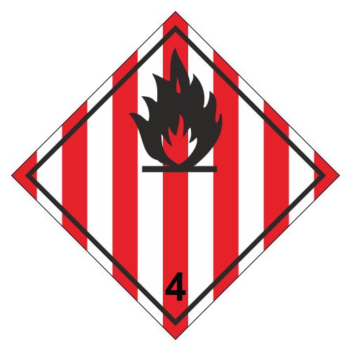 Знак опасности. Класс 4.1. Лекговоспламеняющиеся твердые вещества