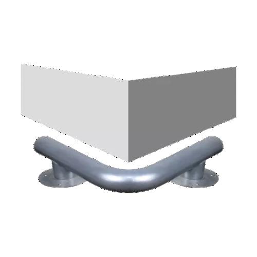 Колесоотбойник металлический для защиты колонн К-5