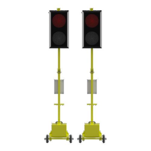 Мобильный светофор Т.8.1. Комплект из 2-х светофоров