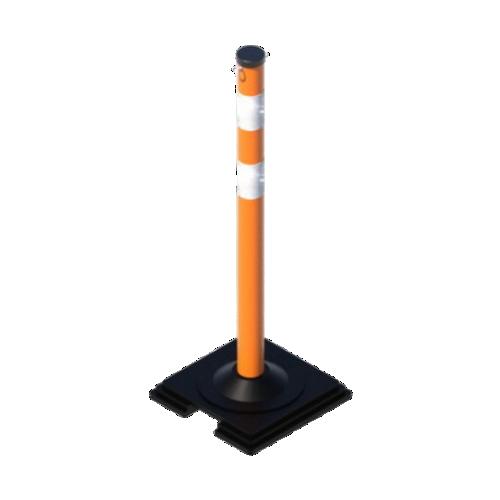 Сигнальный столбик 1000x63мм на резиновой подставке