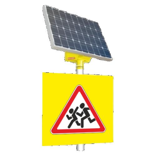 Автономный светодиодный знак 1.23 Дети [На солнечных батареях]