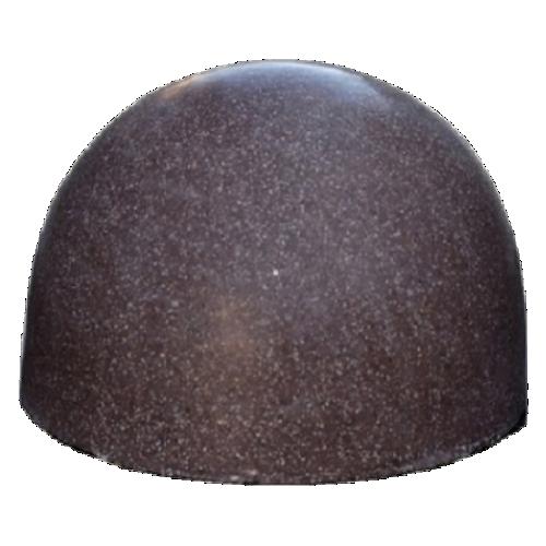 Бетонная полусфера БПС-16 [Под гранит, коричневая, антипарковочная]