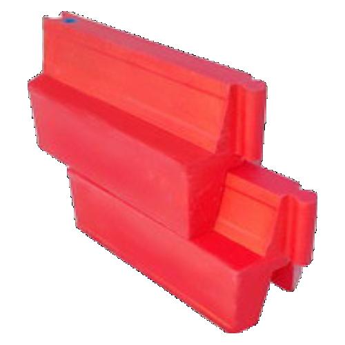 Дорожный барьер водоналивной, пластиковый БВ-В-1-К [красный, вкладывающийся]
