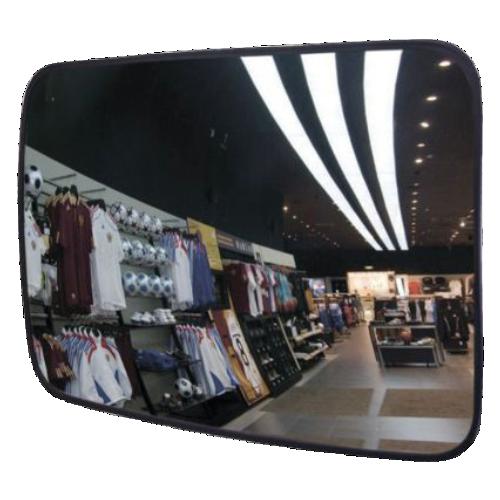 Обзорное прямоугольное зеркало противокражное DL-800х600