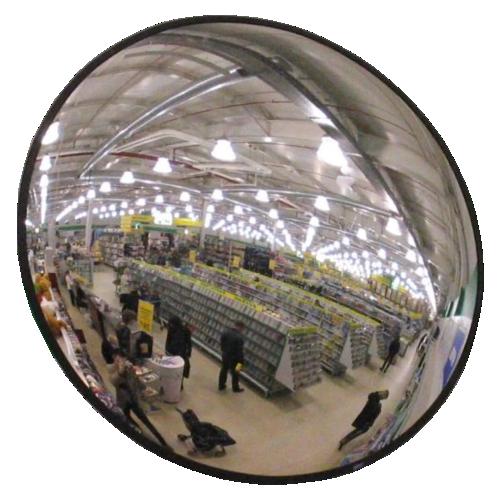 Обзорное универсальное сферическое зеркало круглое Ø-900
