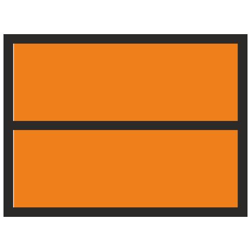 Основа для наборной таблички Опасный груз