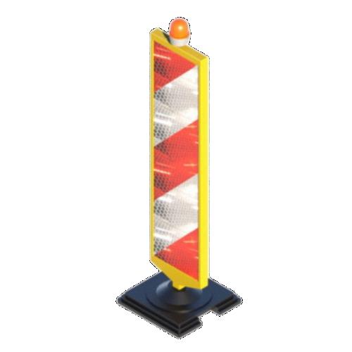"""Пластиковое дорожное ограждение """"Солдатик"""" с фонарем ФС-4.1 [Односторонний]"""