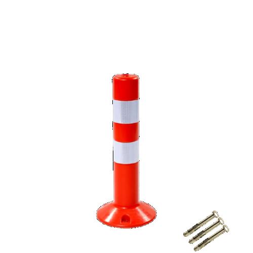 Столбик сигнальный упругий ССУ-480 с крепежом [мягкий, гибкий, парковочный дорожный столбик]