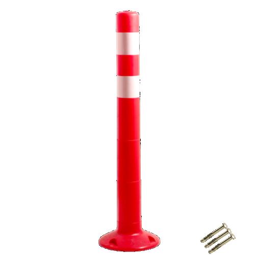 Столбик сигнальный упругий ССУ-750-2 с крепежом [мягкий, гибкий, парковочный дорожный столбик]