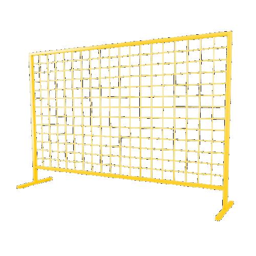 Временное строительное ограждение переносное ОС-2 [желтое]