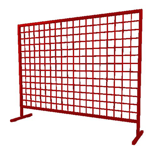 Временное строительное ограждение переносное ОС-1 [красно-коричневое]