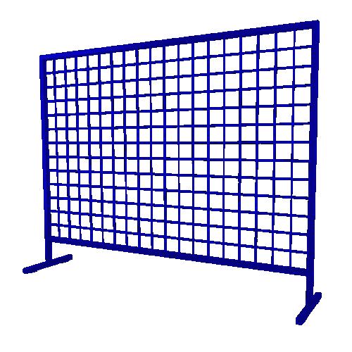 Временное строительное ограждение переносное ОС-3 [синее]