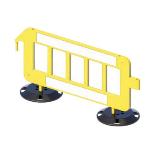 Пластиковое ограждение штакетного типа P2000 на круглых опорах [желтое]
