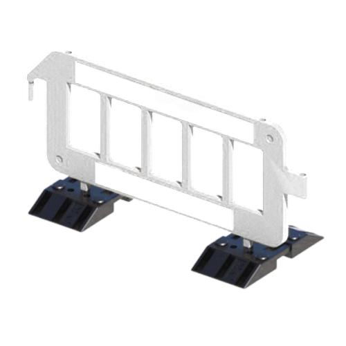 Пластиковое ограждение штакетного типа P2000 на утяжеленных опорах [белое]
